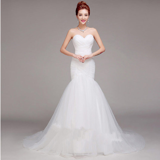 Aliexpress.com : Buy Wedding Dresses 2016 White Sexy Sweetheart ...