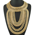 India Pharaoh Necklace Gothic Exaggerate Punk Big Necklace Party Jewelry Female Brand Luxury Collars Necklace Short Design Chain
