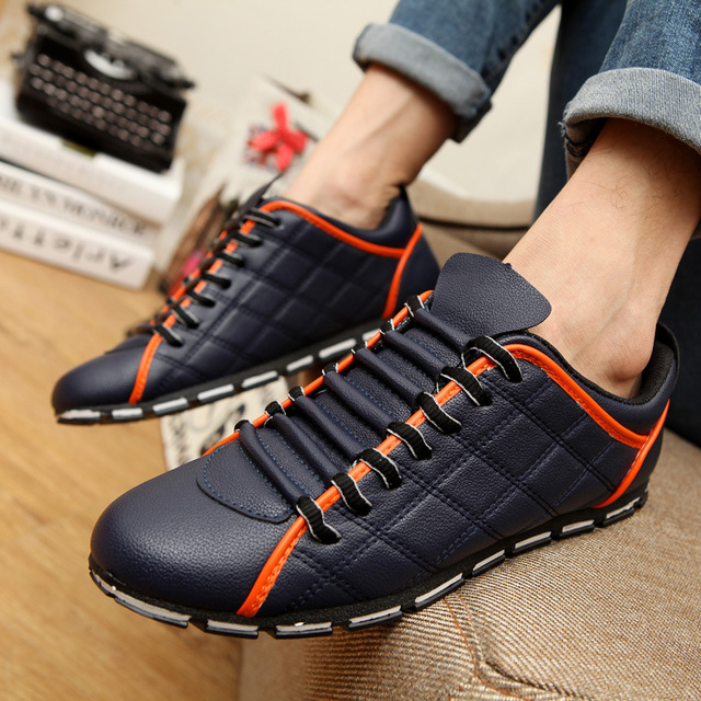 ESUDIAMON British Style Men Shoes Casual Leisure Shoes Leather Shoes Breathable Male Footear Loafers Male Flats Luxury Brand