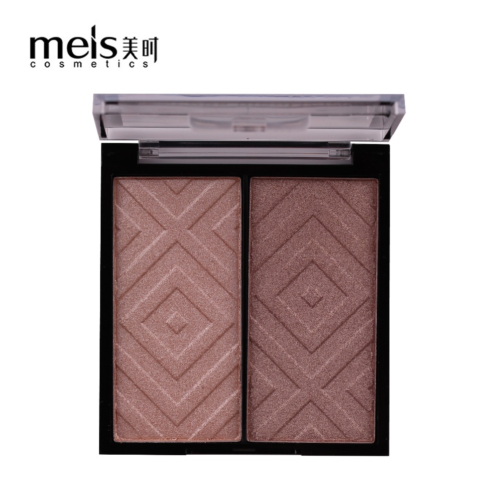 Meis 2 Colors Contour Palette Highlighter Bronzer Press Powder City Color 02635 0263 02631 02632 02633 02634