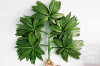 12pcs 68cm Length Pachira Macrocarpa Leaf Leaves Branch Silk Artificial For Wedding Home Office Hotel Decoration