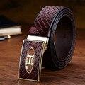 2016 Горячие Мужские Дизайнерские Ремни для Мужчин Бренд Кожаный Ремень Гладкая Пряжки Бизнес Ремень Брюки Ремешок Ceinture Cinturones Mujer W233