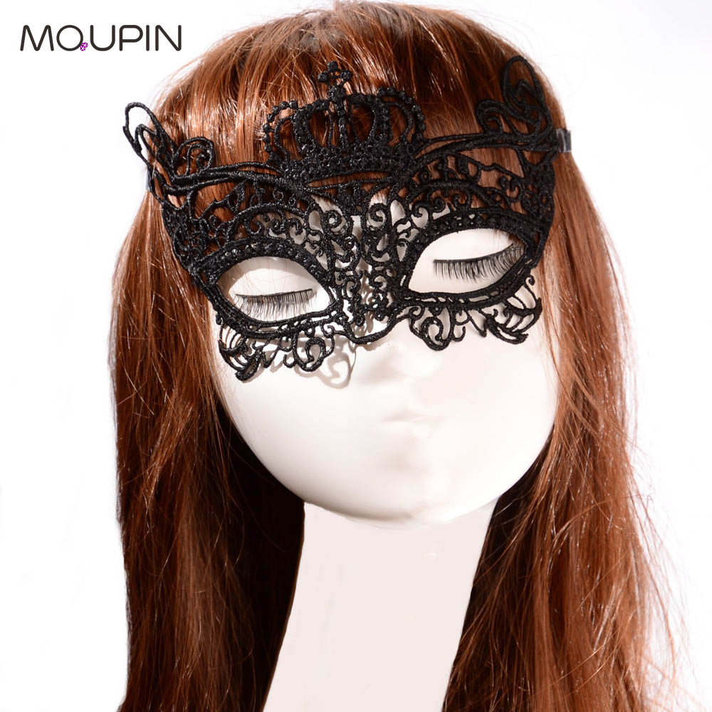 MQUPIN Lace Bat Mask Ladies Theme Dance New lady Exaggerated Lace Mask Sexy Exotic Lingerie Accessories Cosplay Adult  Sexy Toy