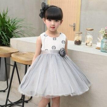 3a7fe414d Vestido de verano para Niñas Ropa para niños 2017 vestido de princesa sin  mangas con encaje de 6 a 10 años