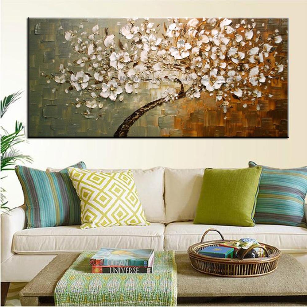 acrylique fleur peinture promotion achetez des acrylique. Black Bedroom Furniture Sets. Home Design Ideas