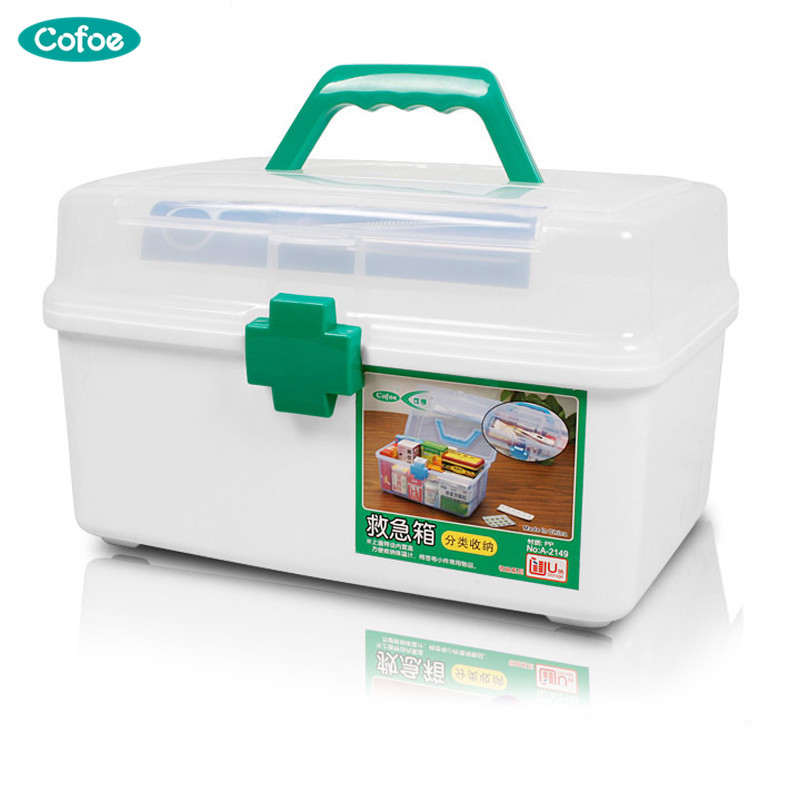 Cofoe First-aid kit Multi-family home healthcare kits wholesale pharmaceutical medicine box portable suitcase medical kit цена