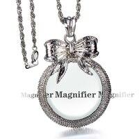 Thời trang Vòng Cổ và pendant dài chain Nữ Dây Chuyền Với Magnifying Mặt Dây Chuyền Thủy Tinh Hàng Ngày Đọc Sách Mục Đích Miễn Phí Vận lô hàng