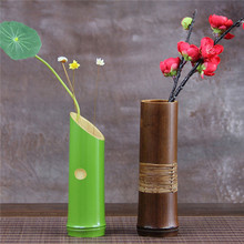Handmade Japanese Bamboo Flower Vase For Home Decoration Plant Paint High Quality Wedding Decoration Vase Gift Crafts Basket