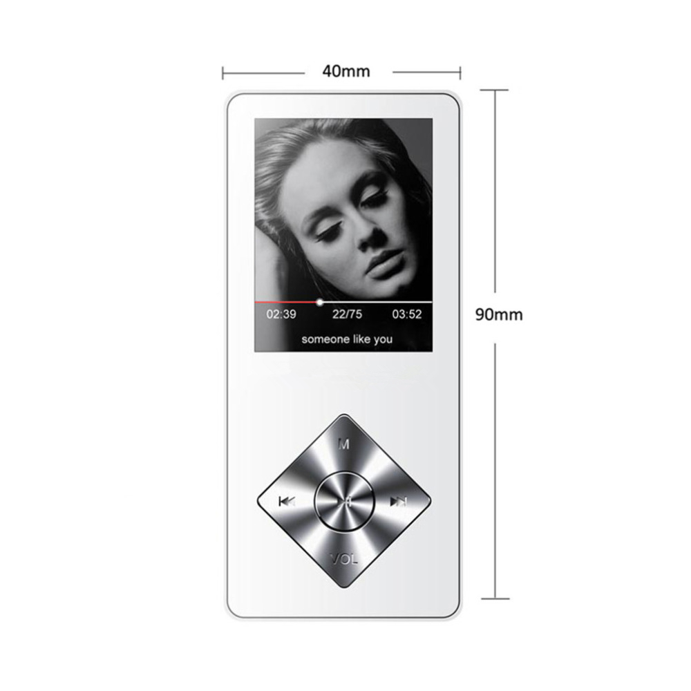 SMILYOU Speaker metal mp4 Player 4GB 8GB 16GB HIFI Lossless Sound music alloy mp4 Music Player FM Radio Voice Recorder E-Book