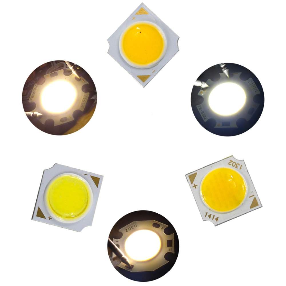 10pcs 3W 5W 7W 12W COB LED Lamp Bulb Warm White/White/Cold White light source DIY Chip for car light COB LED Chip DA