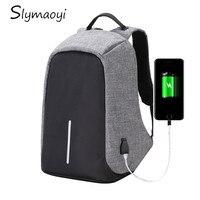 Multifunction Canvas Men Backpack Anti Theft With Usb Charging Laptop Business Knapsack Shoulder Waterproof Women Travel