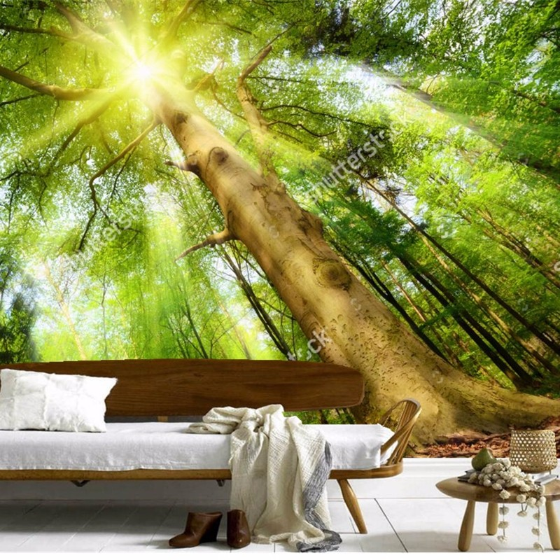 Custom 3D mural,3d towering trees papel de parede, living room TV wall Bedroom Sofa backdrop wallpaper wallpaper for walls 3 d 3d mural papel de parede purple romantic flower mural restaurant living room study sofa tv wall bedroom 3d purple wallpaper