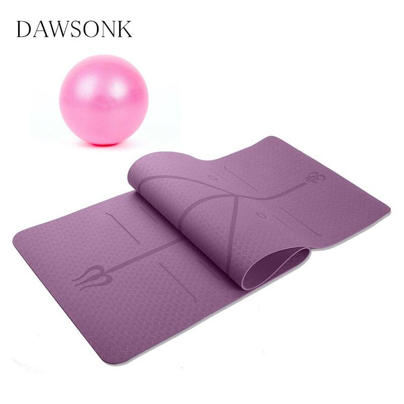 @1  Position line Коврик для йоги 6 мм (для начинающих) нескользящий женский мужской коврик для йоги Yog ✔