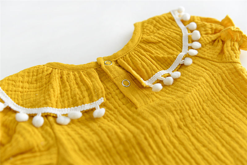 b481c1042abf Ins Cotton Baby girl summer Rompers Vintage casual toddler kids Romper  short Sleeve cute children Clothes 0m 24m-in Bodysuits from Mother   Kids  on ...