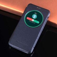Противоударный кожаный чехол книжка для телефона Asus Zenfone Max ZC550KL ZC550 ZC 550KL 550 KL Circle Smart View, автоматическое Пробуждение в спящем режиме