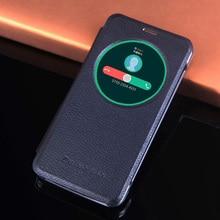 Odwróć odporny na wstrząsy skórzany futerał na telefon pokrywa dla Asus Zenfone Max ZC550KL ZC550 ZC 550KL 550 KL koło inteligentny widok Auto sen Wake