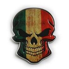 FDIK 3D Aluminum Germany Italy ENGLAND France USA China National Flag skull Emblem Badge Decal Truck Auto Motor Car universal