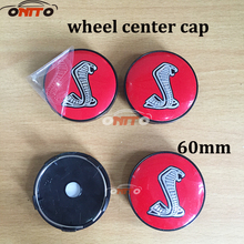 Car Styling 4pcs 56mm 60mm black red color Snake Car Wheel Center Hub Cap Badge covers Dust-proof Auto accessories