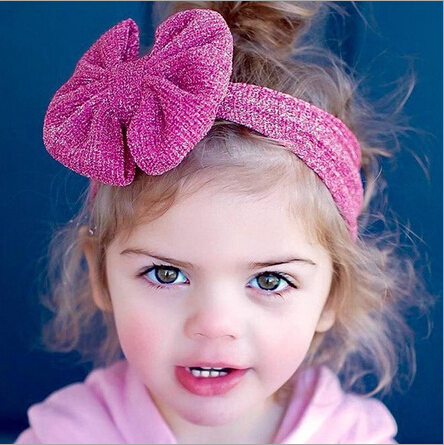 ON SALE 1PCS Girls Accessories Newborn Baby Girls Infant Headband Bowknot Hair Band Children Headband Baby Turban bandeau bebe