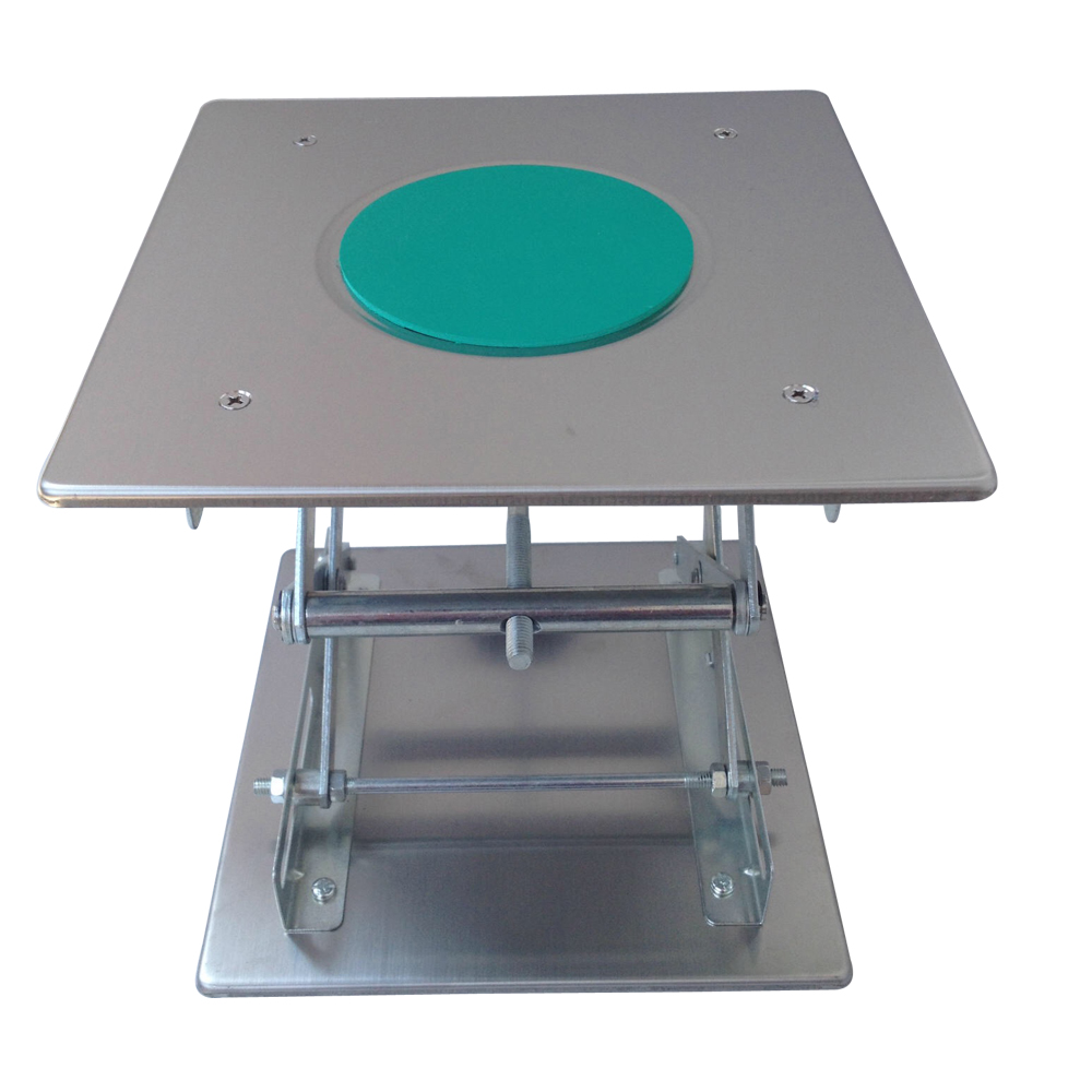 Lifting Platform Adjustable Laboratory Lift Stainless Steel Lab Stand Table Scissor Lifter Mini Hand Elevator 8