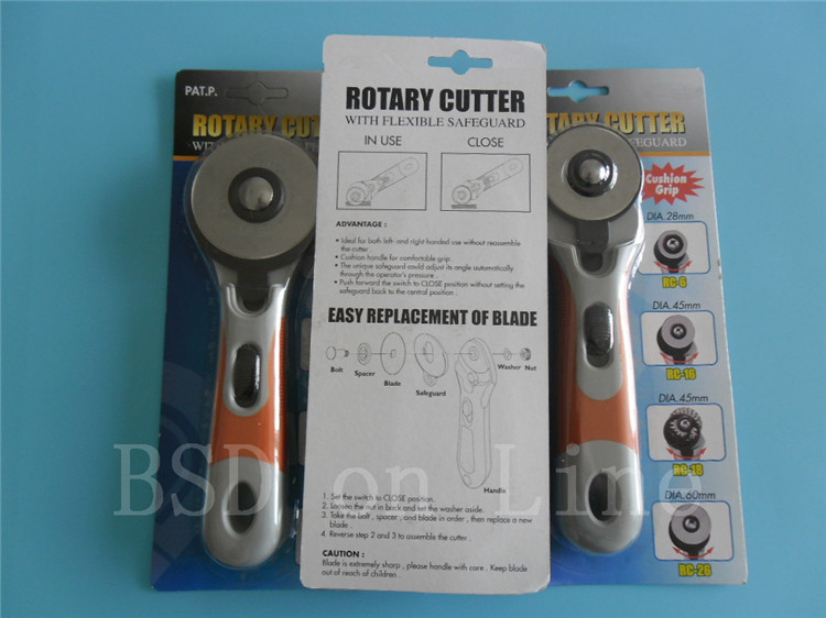 1 шт. 60 мм ручка роторного резака, очень острый подходит для резки бумаги, кожи, ткани, 2 шт. лезвия Бесплатный подарок высокое качество