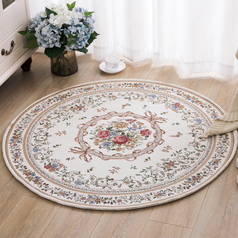 160CM Round Pastoral Style Carpets For Living Room Fresh Home Bedroom Rugs And Carpets Computer Chair