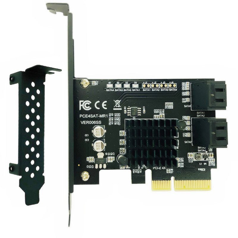 Marvell 88SE9230 SATA PCI Express 4 Ports Expansion Card SATA Controller PCI-E Raid Card PCI E To SATA3.0 Adapter Converter Card