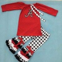 新しいファッション秋冬ブティック幼児女の子衣装コットンベビー服セット卸売子供春衣装f030