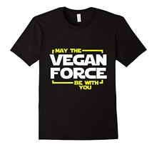 """""""May The Vegan Force Be With You"""" Star Wars-inspired vegan t-shirt"""