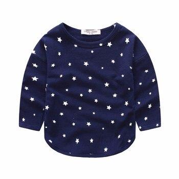 2016 Brand New Spring Summer Kids T-shirt Jersey Allover Star Print Long Sleeves Boy's Girls Baby T shirt Bobo Choses