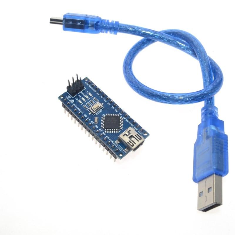 Trasporto libero per Arduino Nano V3.0 controller ATMEGA328P ATMEGA328 originale CH340 + cavo USB