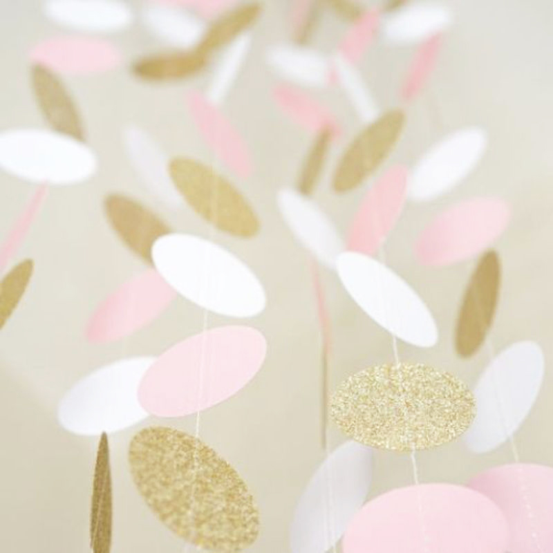 24 штуки, 2 м, блестящий круг, в розовый, белый, золотой горошек, с днем рождения, игрушки, детская шапочка, подарок, гирлянда, игрушки для малышей 0-12 месяцев