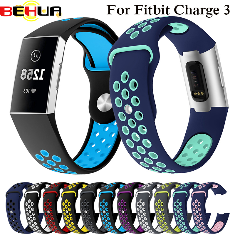 Watch Band For Fitbit Charge 3 Outdoor Sport Soft Silicone Replacement Band For Fitbit Charge 4 Wristband Bracelet Watch Strap