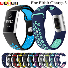 Watch Band For Fitbit Charge 3 Outdoor Sport Soft Silicone Replacement Charge3 Wristband Bracelet Strap