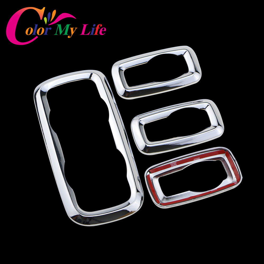 Color My Life ABS Chrome Window Lifter Switch Decoration Panel Cover Trim Sticker for Ford Ecosport New Fiesta MK7 Accessories наклейки color my life abs ford ecosport fiesta