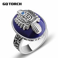 Guaranteed 925 Sterling Silver Damon Salvatore Ring Vampire Diaries Men S Ring With Lapis Lazuli Gem