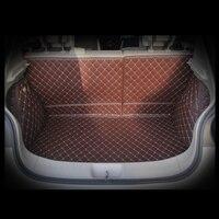Lsrtw2017 волокна кожи багажник автомобиля коврик для nissan tiida 2014 2015 2016 2017 2018 tiida c13