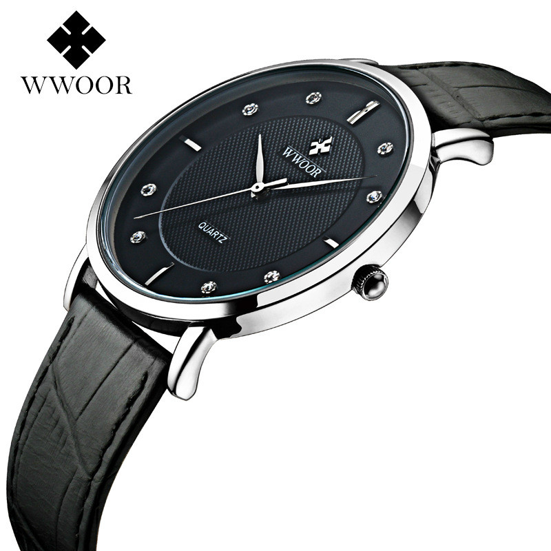 jojo watches promotion shop for promotional jojo watches on men watches new luxury brand wwoor ultra thin full genuine leather clock male waterproof casual sport watch wrist quartz watch