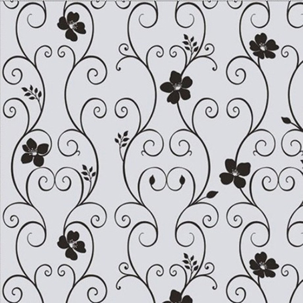 New Sweet 45x100cm Frosted Privacy Cover Glass Window Door Black Flower  Sticker Film Adhesive Home Office