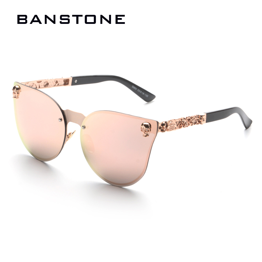 bbfd75e227859 BANSTONE Men Women Fashion Skull Design Gothic Sunglasses Cool Street Snap  Sunglasses UV400 Metal Frame Oculos De Sol Gafas