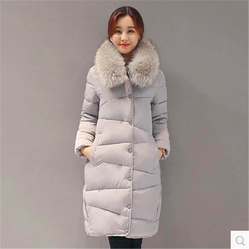 2017 New Women Winter Overcoat Thicken Hooded Fashion Cotton Down Jacket Large Size Warm Long High-end Jacket Coat Women Bh002 Fine Quality