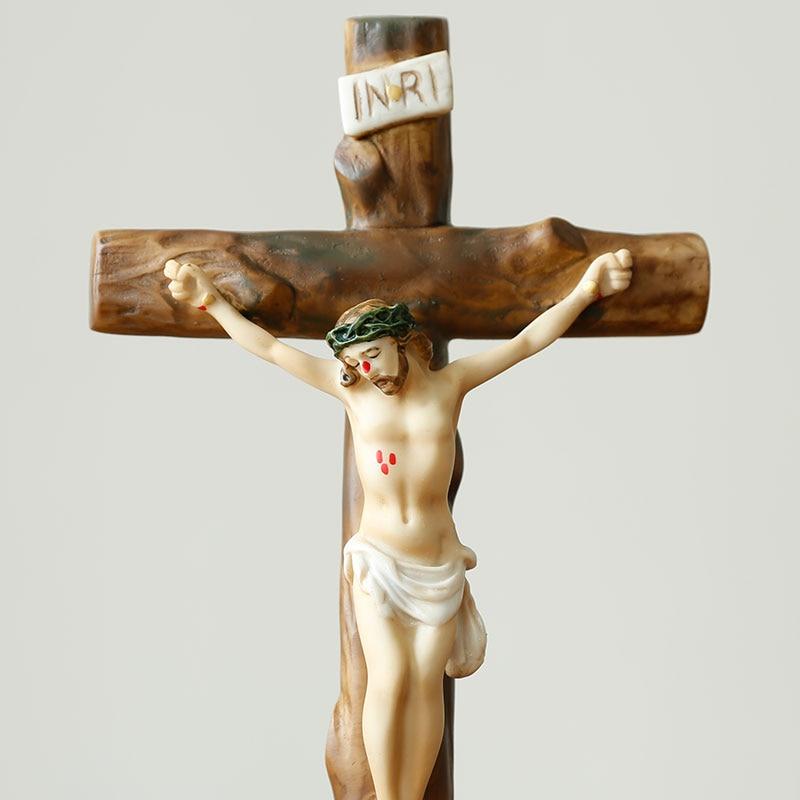 Icônes religieuses catholiques chrétiennes idole cadeaux de mariage cadeaux Christ jésus bibelot ornements croix ameublement - 4