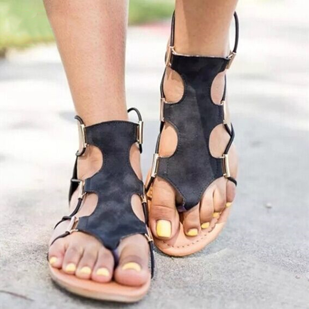 Sandalia feminina Gladiador Rome Sandals Woman Flip Flops Leather Bandage Flat Shoes Bohemia Beach Slippers Sandalias mujer 2019Sandalia feminina Gladiador Rome Sandals Woman Flip Flops Leather Bandage Flat Shoes Bohemia Beach Slippers Sandalias mujer 2019
