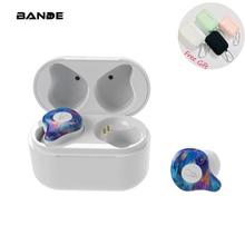 BANDE Mini หูฟังไร้สายบลูทูธสเตอริโอหูฟังบลูทูธชุดหูฟังสำหรับ Ip7 8 Plus สำหรับ Android