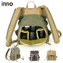 Waterproof Canvas SLR DSLR Digital Camera Photo Bag Backpacks with Paitition Padded Photography Backpacks for Outdoor Travel