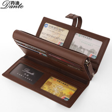 Men's Genuine Leather Handbag Fashion Brand Design Business Men Wallet Multi-Function Large Capacity Purse For Cards And Money