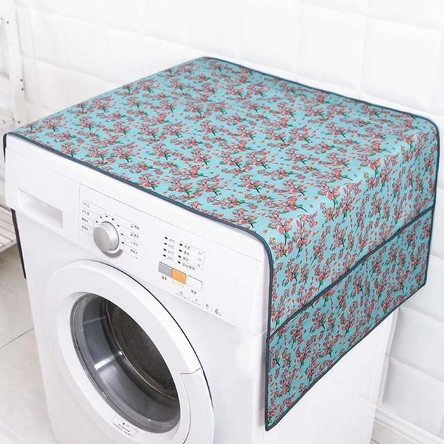 55*130 cm Flower Patterned Impermeabile Rivestimenti per lavatrice Frigorifero D