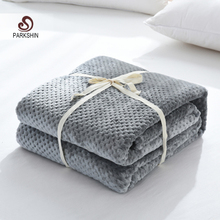 Parkshin 2019 Fashion Gray Flannel Pineapple Blanket Aircraft Sofa Office Adult Car Travel Warm Throw For Couch