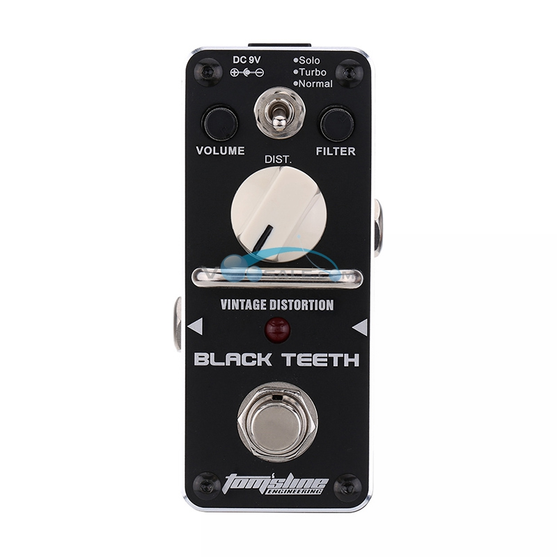 abt 3 black teeth vintage distortion guitar effect pedal aroma mini size pedals with true bypass. Black Bedroom Furniture Sets. Home Design Ideas
