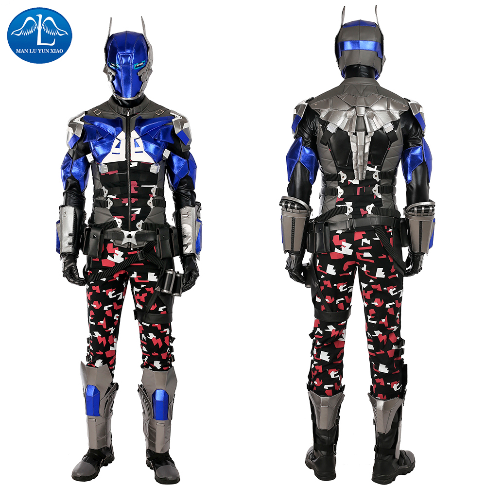 Hot Video Game Batman Arkham Knight Cosplay Costume Halloween Costumes For Adult Men Cosplay Arkham Knight Costume Suit